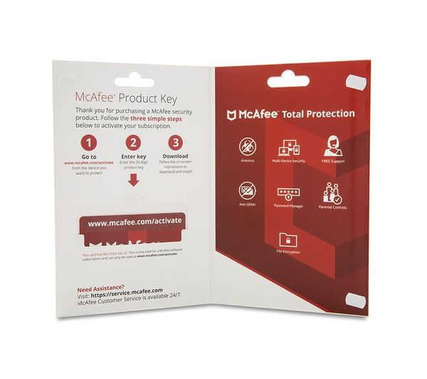 MCAFEE Total Protection 2018 - 1 year for 7 devices