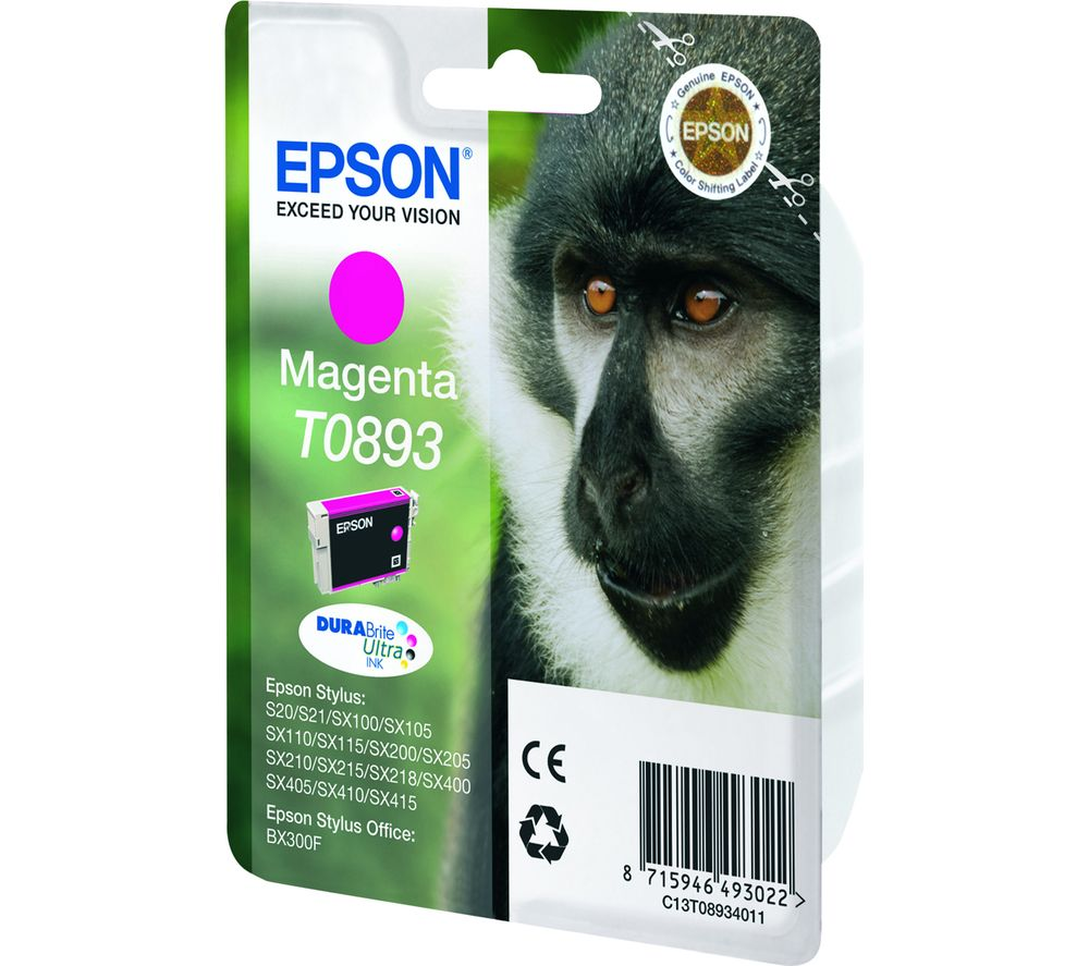 EPSON Monkey T0893 Magenta Ink Cartridge