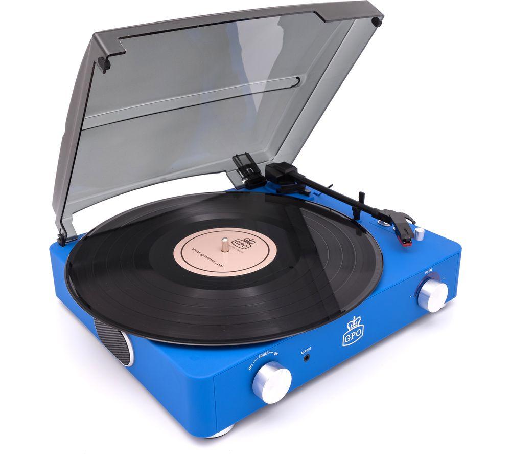GPO Stylo II Belt Drive Turntable - Blue