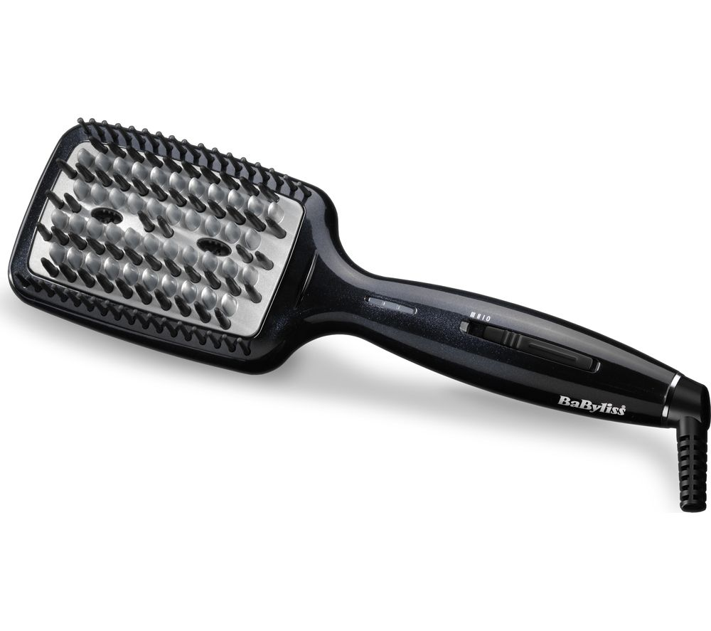 BABYLISS 2440BDU Diamond Heated Smoothing Brush - Black