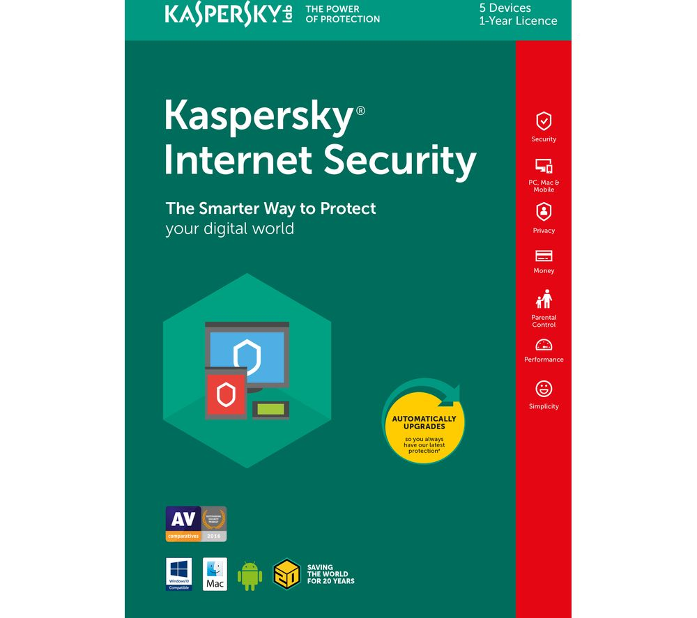 KASPERSKY Internet Security 2018 - 1 year for 5 devices