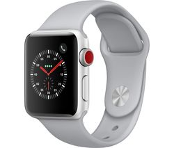 APPLE Watch Series 3 Cellular - Silver, 38 mm