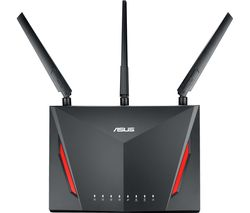 ASUS RT-AC86U WiFi Cable & Fibre Router - AC 2900, Dual-band