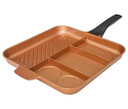 HIGH STREET TV QuadraPan Essential 4-in-1 32 cm Non-stick Frying Pan - Copper