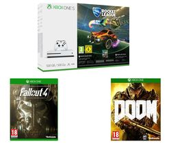 MICROSOFT Xbox One S with Rocket League & Xbox LIVE Gold Membership 3 Month Subscription