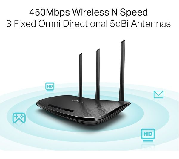 TP Link WR940N Wireless Router Wall