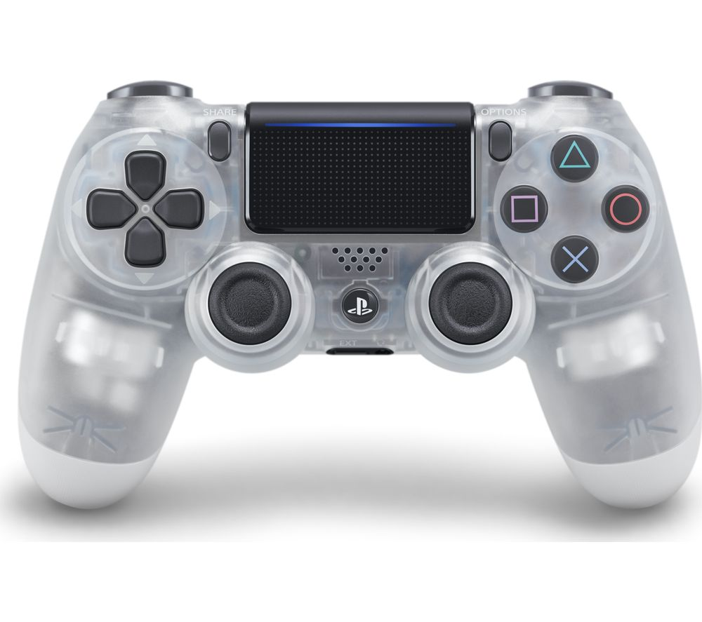 sony dualshock 4 crystal wireless controller   clear deals