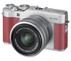 FUJIFILM X-A5 Mirrorless Camera with FUJINON XC 15-45 mm f/3.5-5.6 OIS PZ Lens - Pink