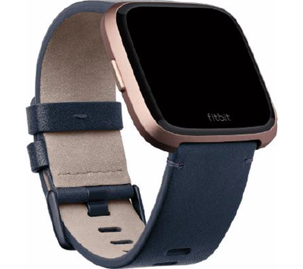 Buy FITBIT Versa Leather Band - Blue, Small | Free Delivery