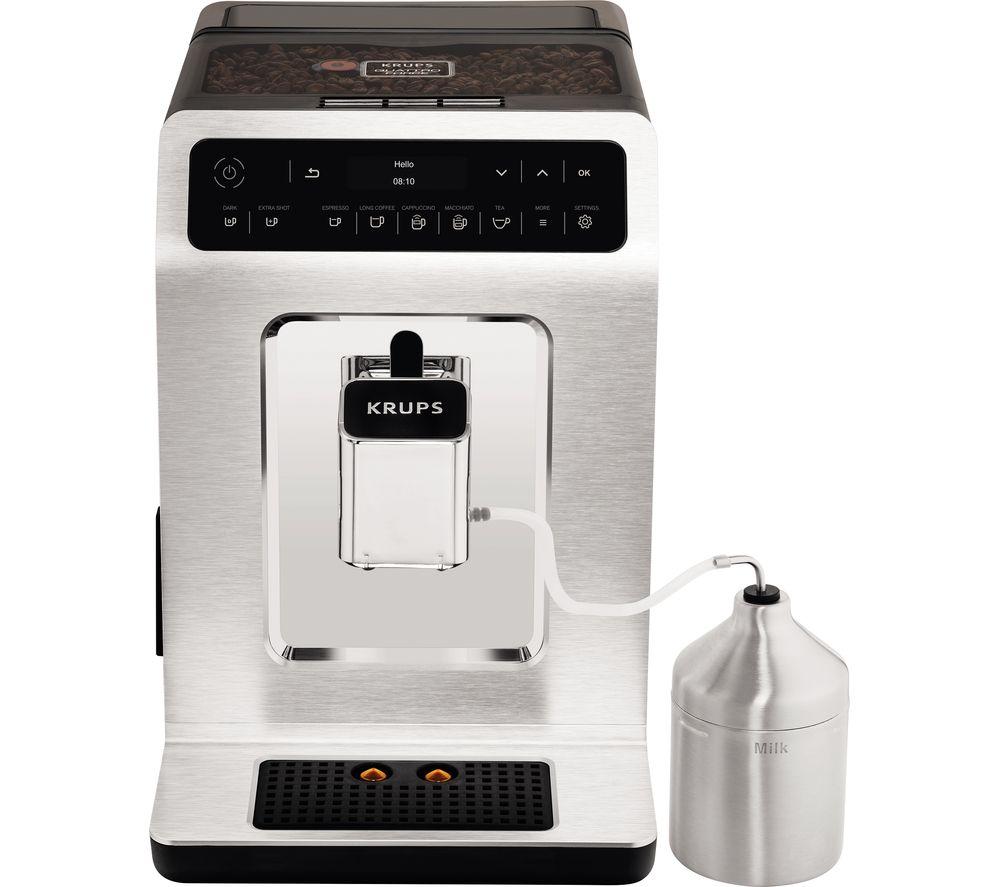 Image of KRUPS Evidence EA893C40 Smart Bean to Cup Coffee Machine - Chrome, Black