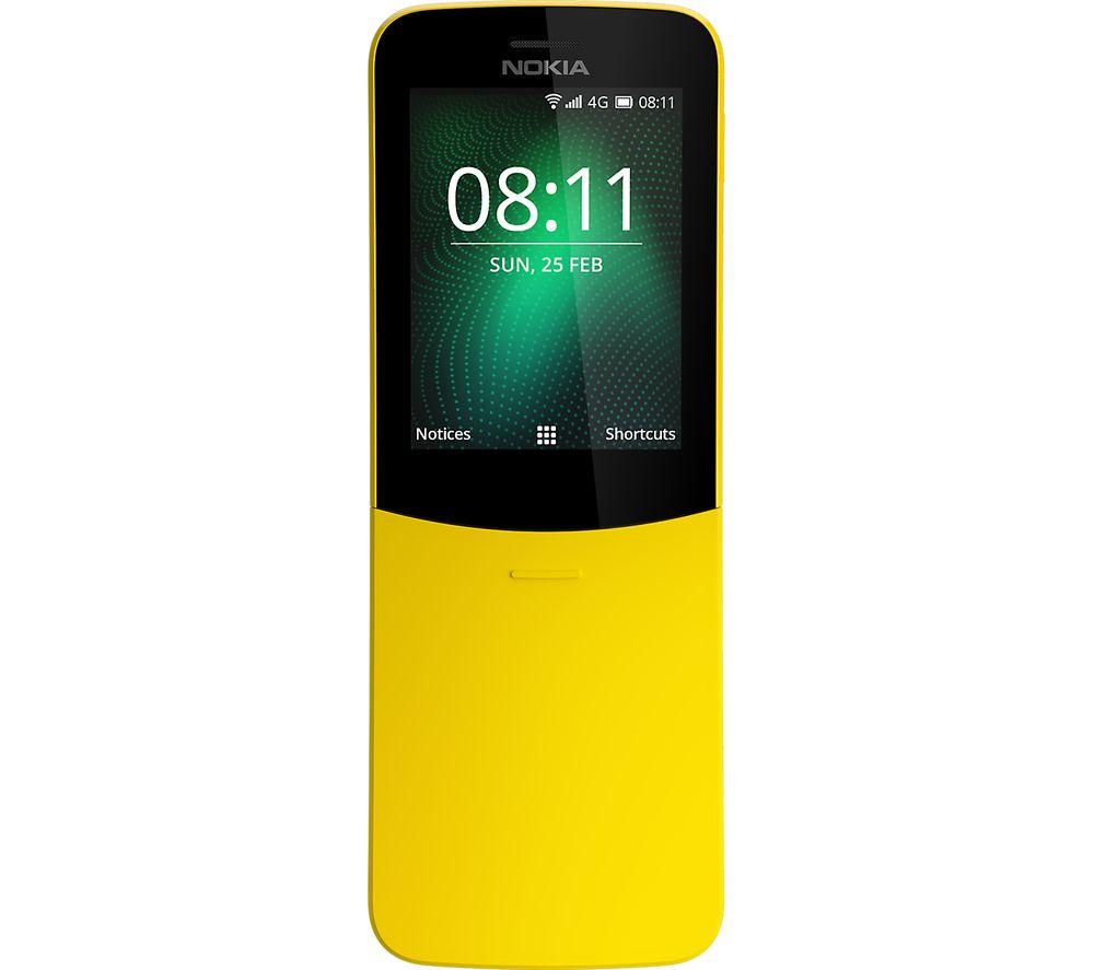 Buy Nokia 8110 4g 4 Gb Yellow Free Delivery Currys X Dual Sim 4gb Black