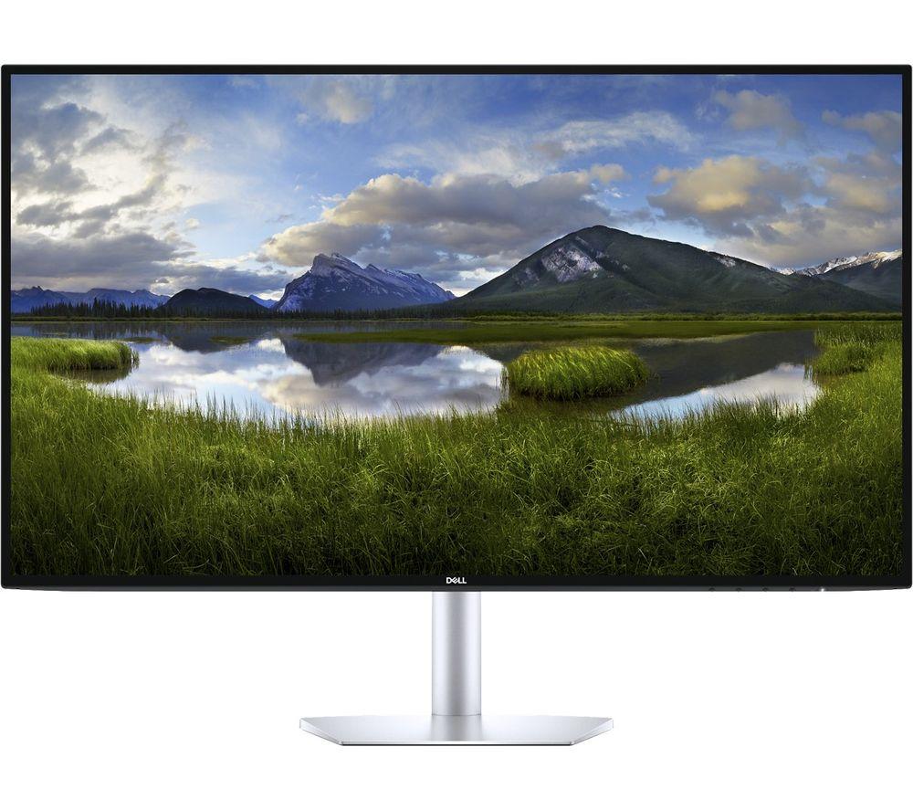 """DELL S2719DM Quad HD 27"""" LCD Monitor - Silver & Black"""