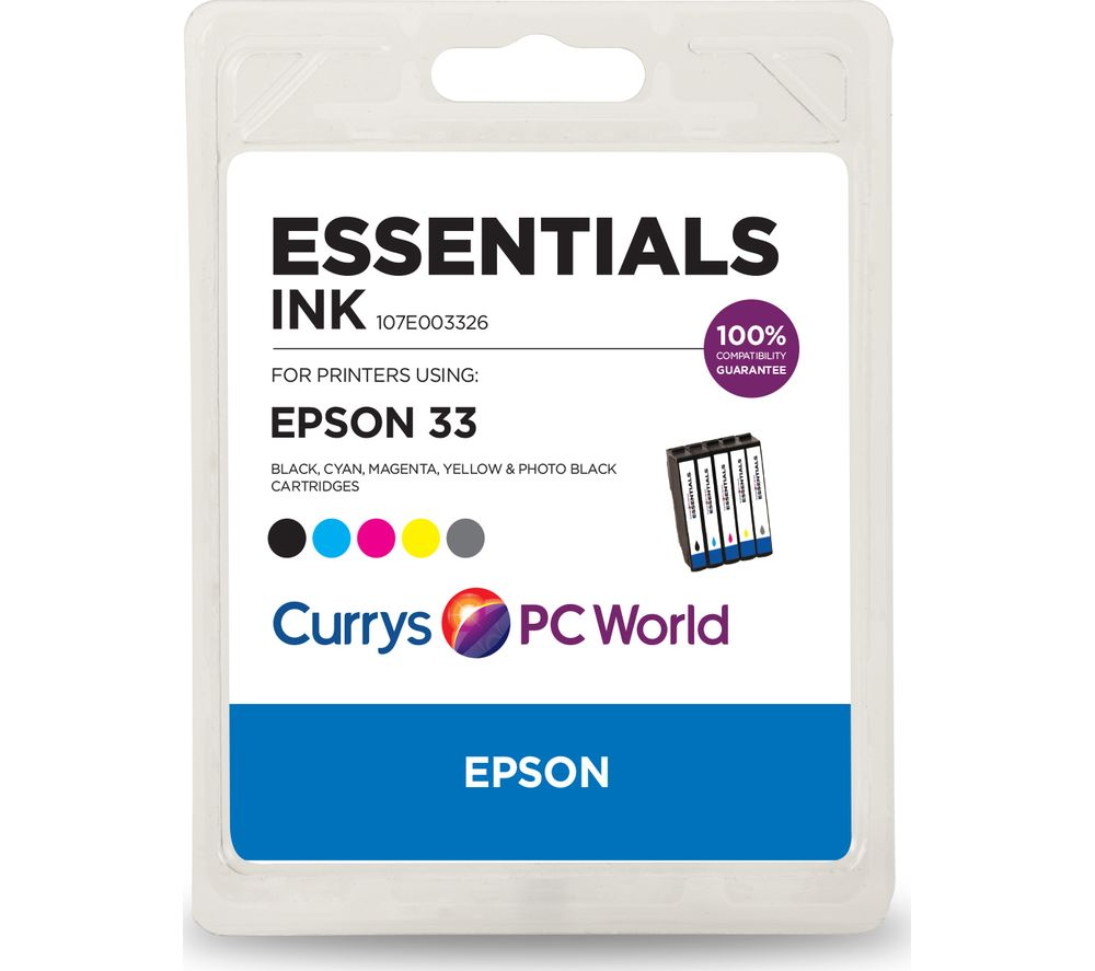 ESSENTIALS Epson 33 5-Colour Ink Cartridges - Multipack