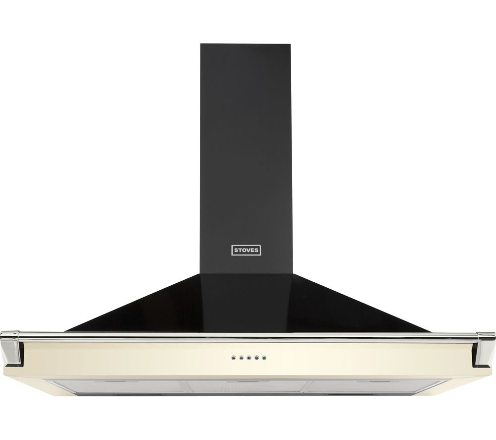STOVES Richmond S1000 Chimney Cooker Hood - Black & Cream