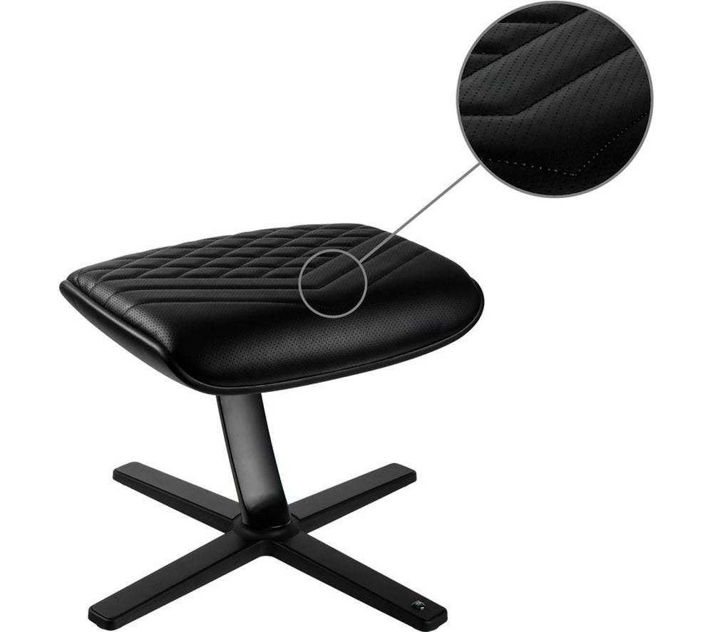 NOBLE CHAIRS NBL-FR-PU-BL Footrest - Black