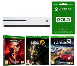 MICROSOFT Xbox One S, Fallout 76, Tekken 7, Project Cars 2 & 3 Months LIVE Gold Bundle