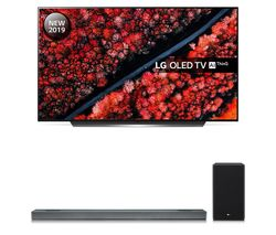 LG SL9YG 4.1.2 Wireless Sound Bar with Dolby Atmos & OLED65C9MLB 65