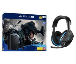 SONY PlayStation 4 Pro with Call of Duty: Modern Warfare & Stealth 600 Wireless Gaming Headset Bundle