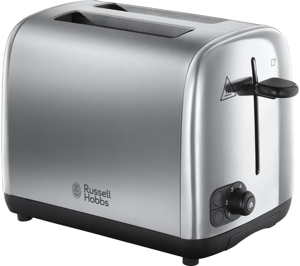 RUSSELL HOBBS 24081 2-Slice Toaster - Brushed Stainless Steel, Stainless Steel