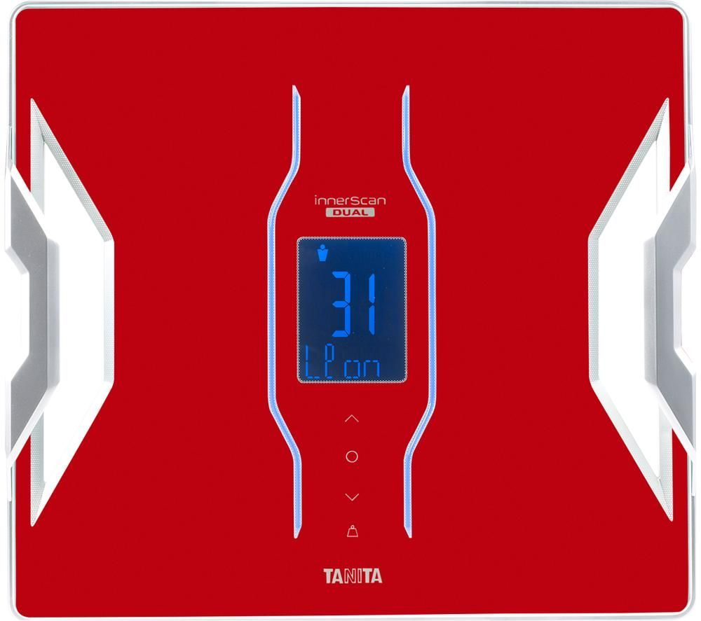 TANITA InnerScan Dual RD-953 Smart Bathroom Scales - Red, Red