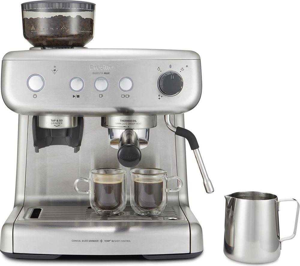 BREVILLE VCF126 Barista Max Coffee Machine - Stainless Steel, Stainless Steel