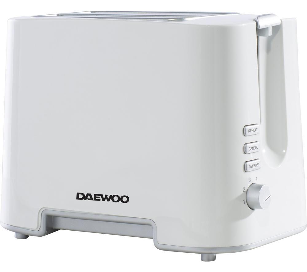 DAEWOO SDA1651 2-Slice Toaster ? White & Chrome, White