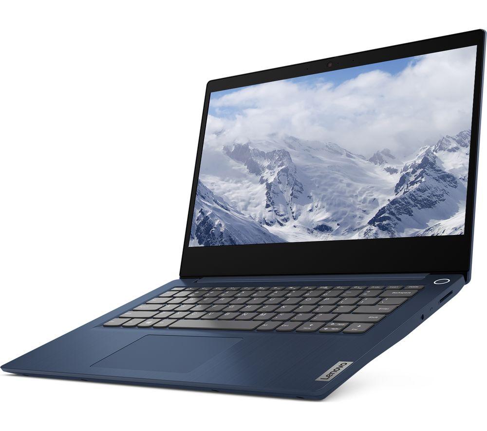 "Image of LENOVO IdeaPad 3i 14"" Laptop - Intel®Core™ i3, 128 GB SSD, Blue, Blue"