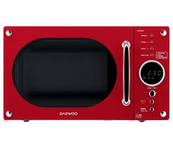 DAEWOO Retro KOR8A9RDR Solo Microwave - Red Best Price, Cheapest Prices