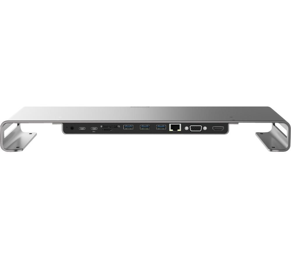 Image of SITECOM CN 409 USB Type-C Multiport Monitor Stand - Silver, Silver