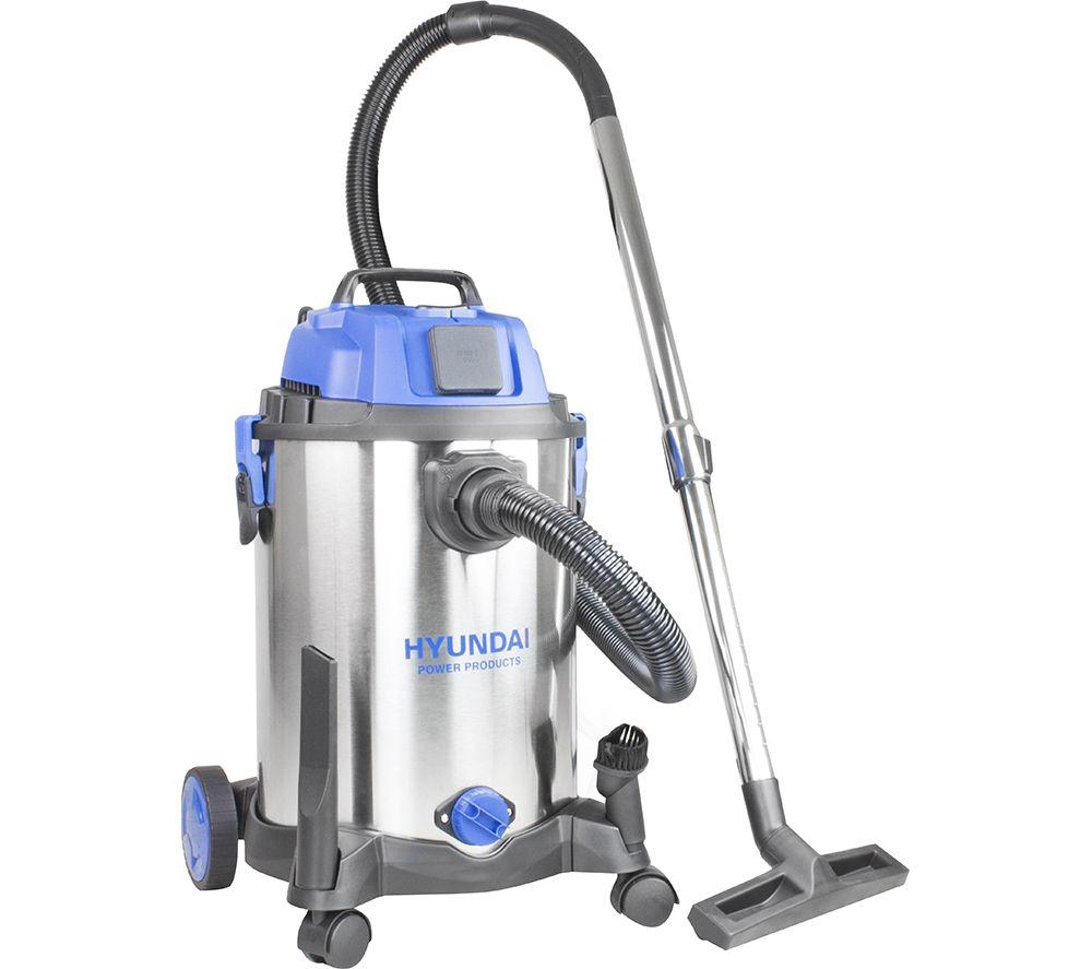 HYUNDAI HYVI3014 Cylinder Wet & Dry Vacuum Cleaner - Silver & Blue