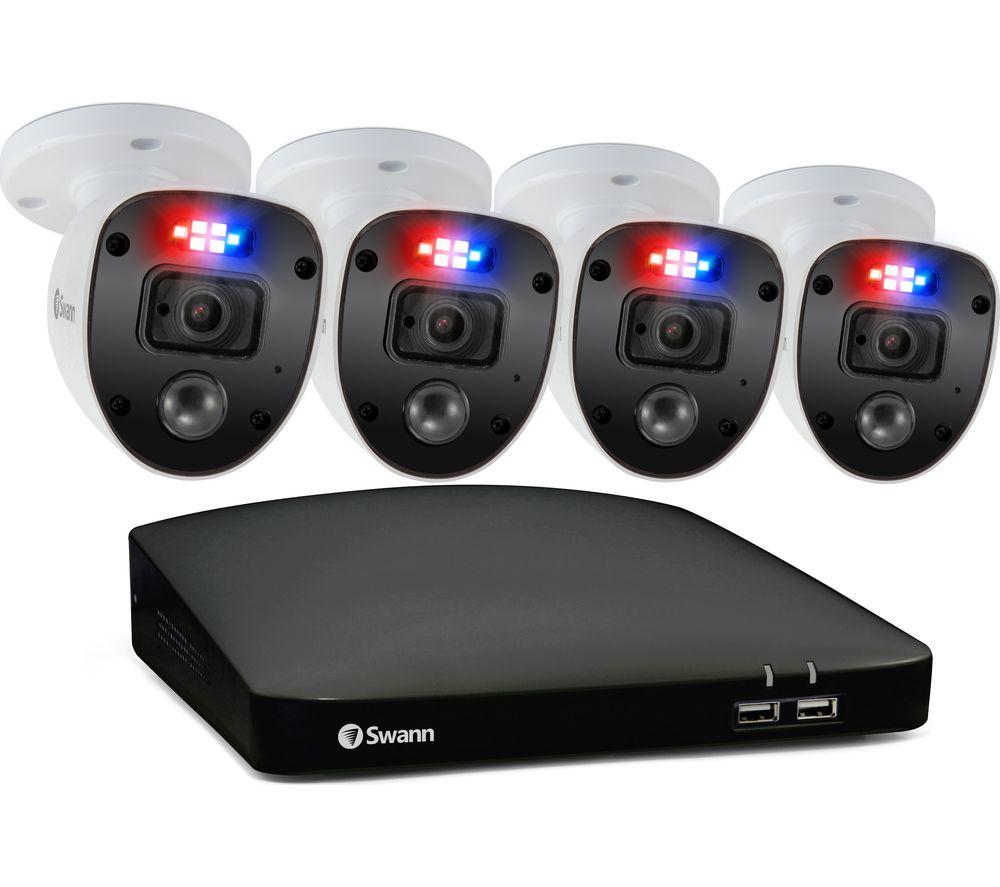 SWANN Enforcer SWDVK-84680SD4SL-EU 8-Channel Full HD 1080p DVR Security System - 32 GB microSD, 4 Cameras