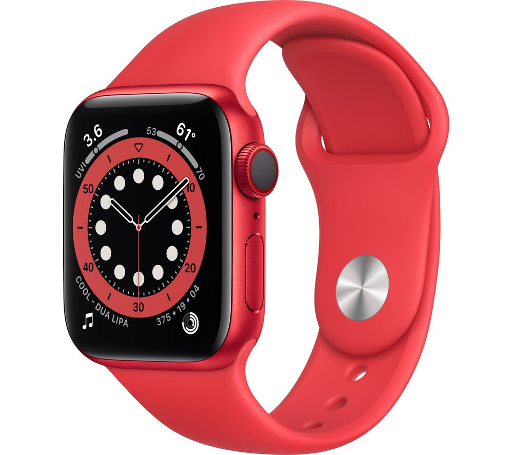 APPLE Watch Series 6 Cellular - PRODUCT(RED) Aluminium with PRODUCT(RED) Sports Band, 44 mm
