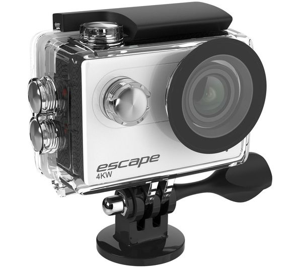 KITVISION Escape 4K Ultra HD Action Camera - Silver & Black