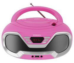 CD200 FM Bluetooth Boombox - Pink