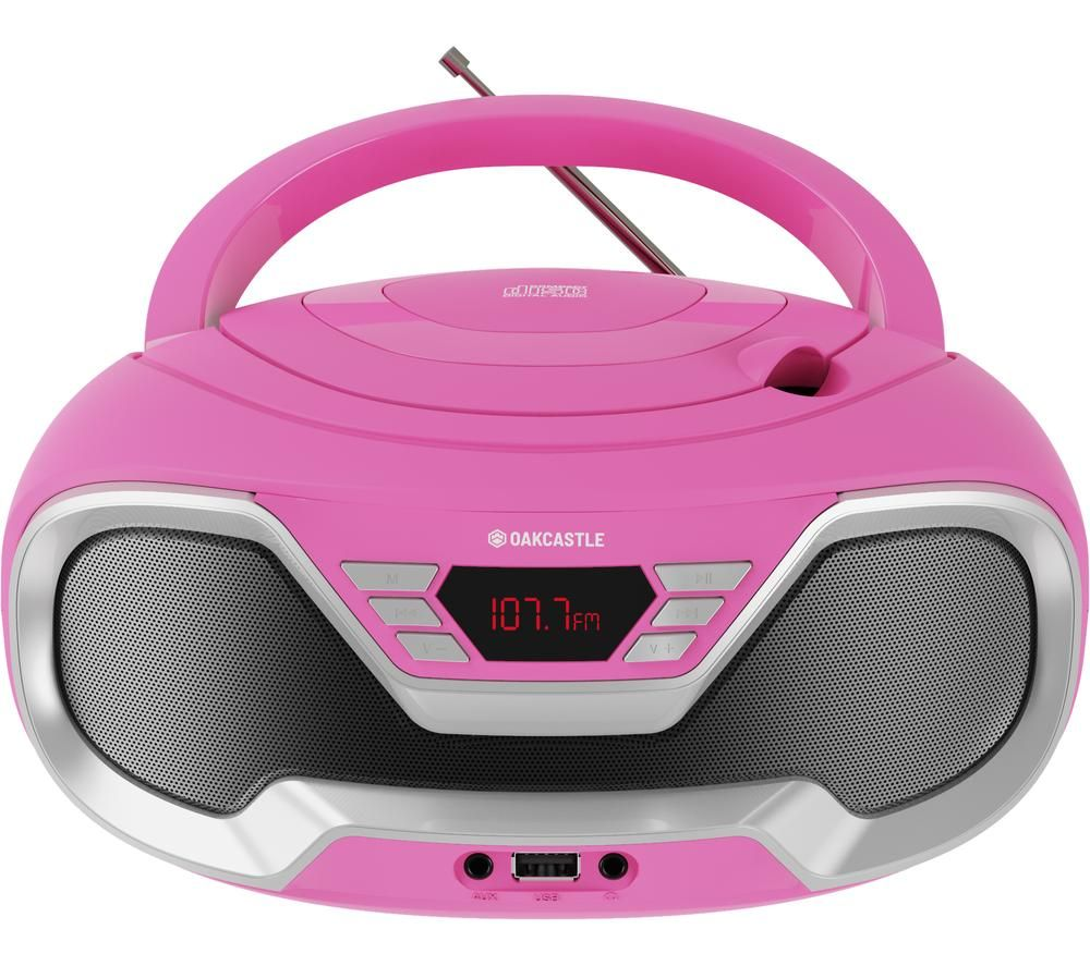 Image of OAKCASTLE CD200 FM Bluetooth Boombox - Pink, Pink