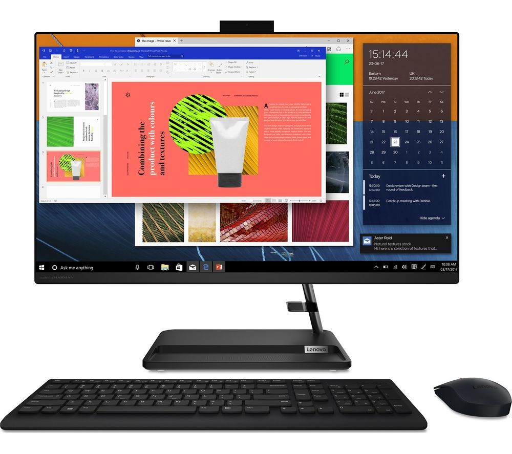 """Image of LENOVO IdeaCentre AIO 3i 27"""" All-in-One PC - Intel® Core™ i3, 256 GB SSD, Black"""