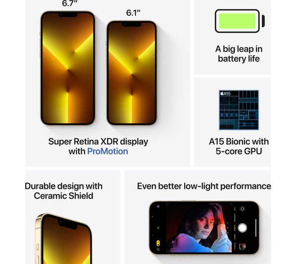 Apple iPhone 13 Pro - 512 GB, Gold 7