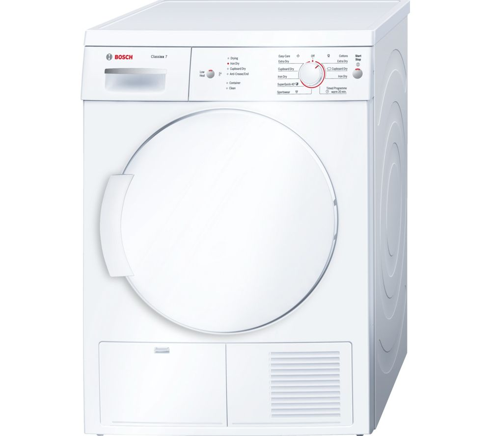 Bosch Tumble Dryer Classixx 7 WTE84106GB  – White, White