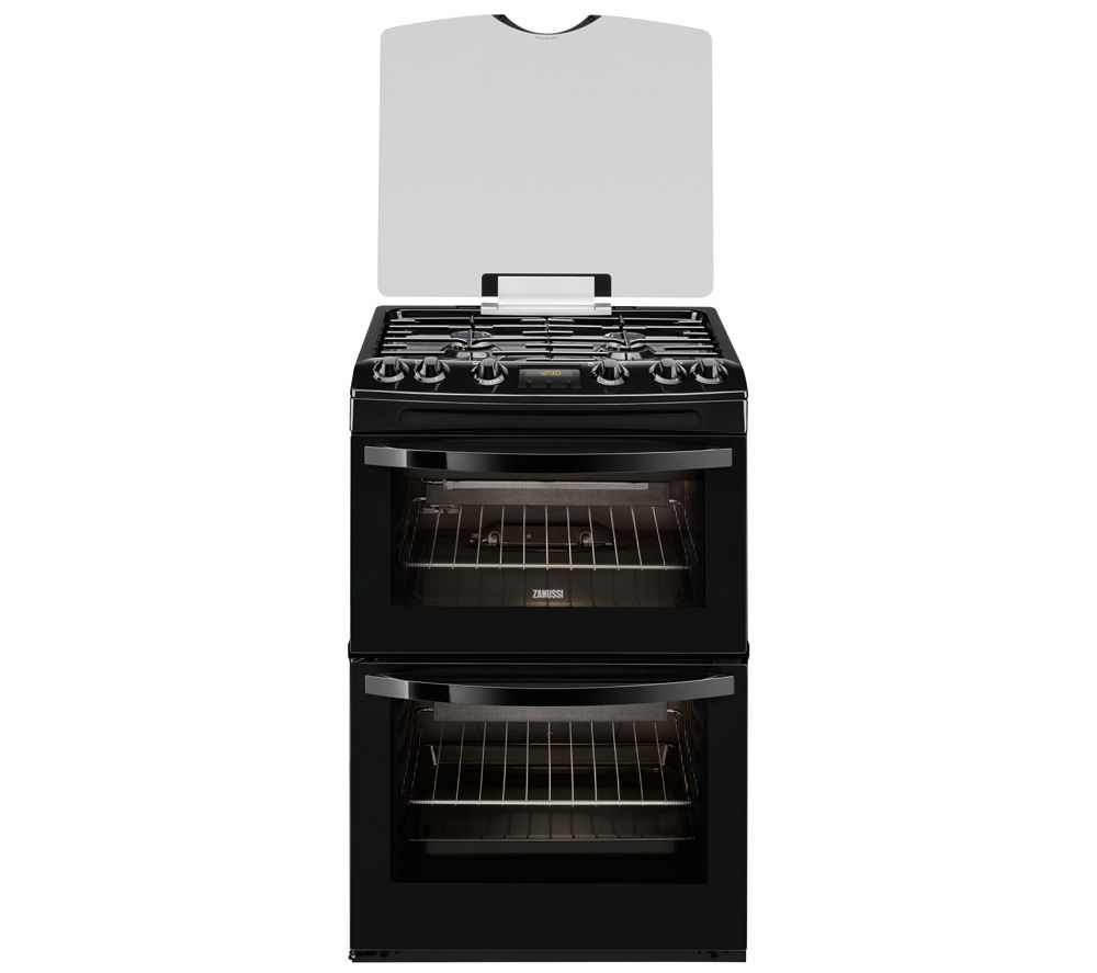 Buy Zanussi Zcg63330ba Gas Cooker Black Free Delivery