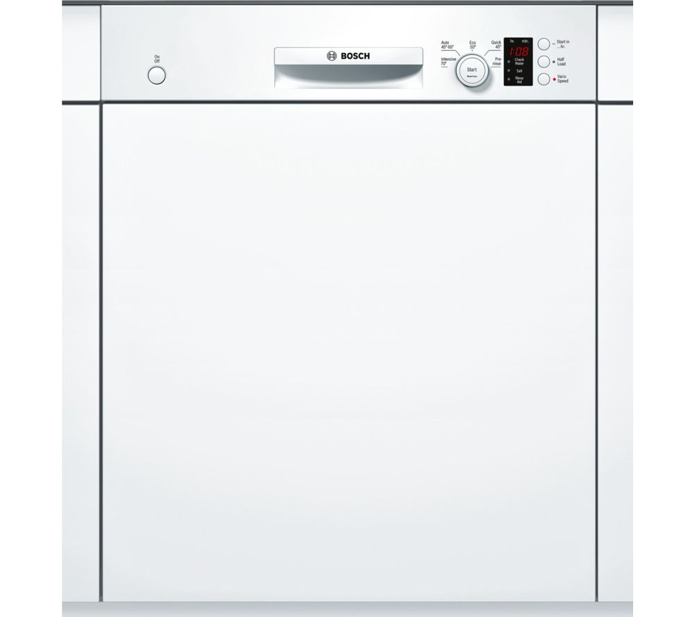 BOSCH Serie 4 SMI50C12GB Full-size Semi-Integrated Dishwasher + KUR15A50GB Integrated Undercounter Fridge