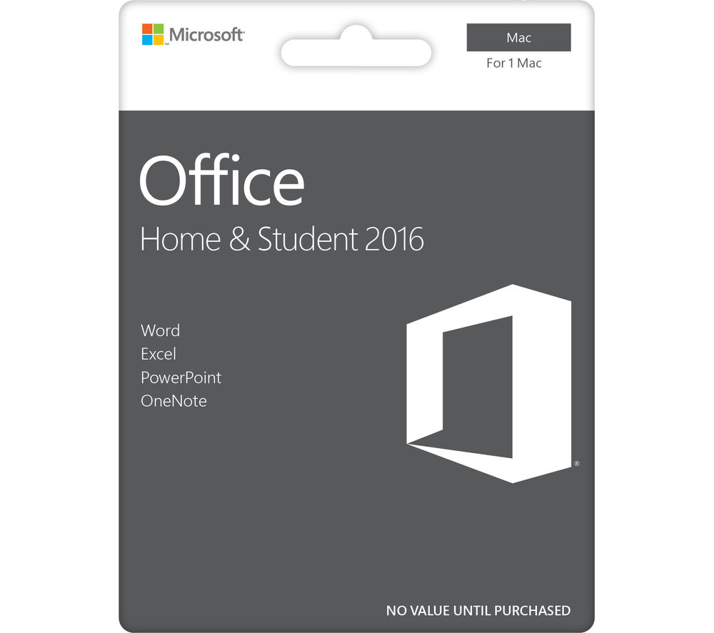 MICROSOFT Office Home & Student 2016 for Mac - Lifetime for 1 user (download)
