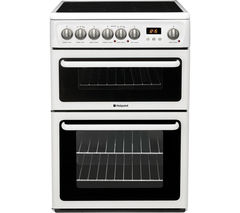 HOTPOINT HAE60PS Electric Ceramic Cooker - White