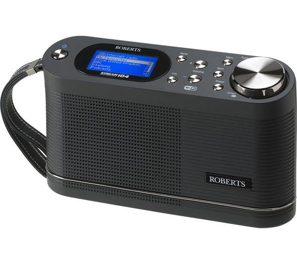 Image of ROBERTS Stream 104 Portable DAB+/FM Smart Radio - Black