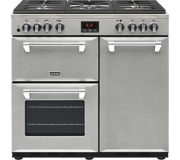 Image of STOVES Ellingwood 90DFT MET SV 90 cm Dual Fuel Range Cooker - Metallic Silver