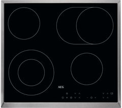 AEG HK634060XB Electric Ceramic Hob - Black Best Price, Cheapest Prices