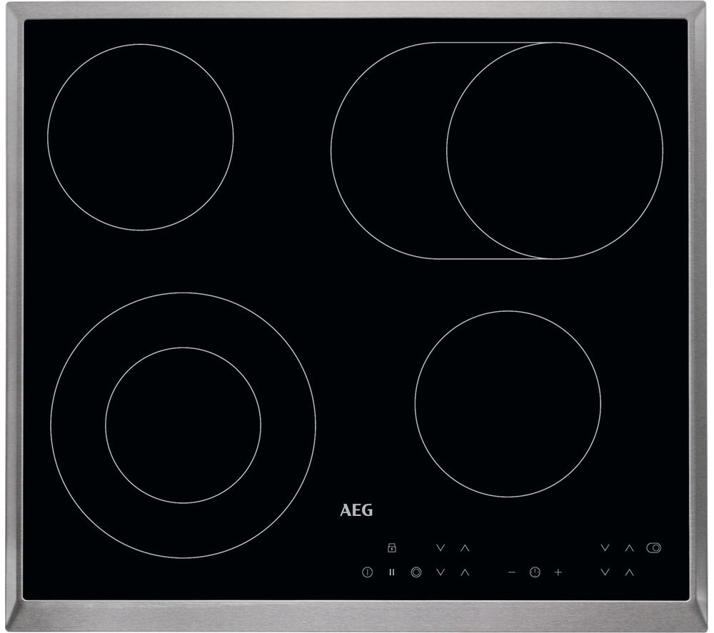 Image of AEG HK634060XB Electric Ceramic Hob - Black, Black