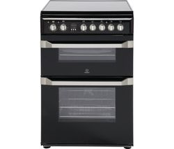 INDESIT ID60C2KS 60 cm Electric Ceramic Cooker - Black & Stainless Steel