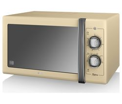SWAN Retro SM22070CN Solo Microwave - Cream Best Price, Cheapest Prices