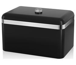 SWAN Retro Bread Bin - Black