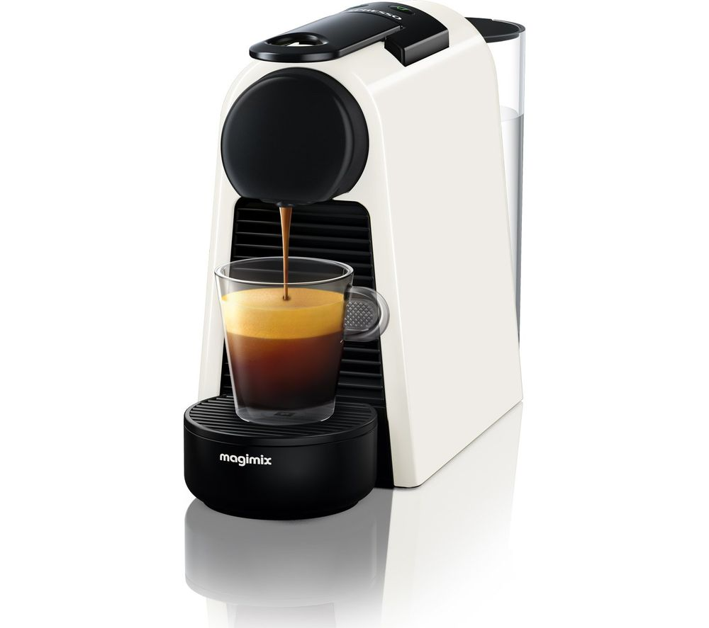 buy nespresso by magimix essenza mini coffee machine pure white free delivery currys. Black Bedroom Furniture Sets. Home Design Ideas